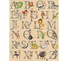 ABC Animals (with names) Photographic Print