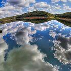 Dam Sydney - Mirror Reflection - Panorama by Bryan Freeman