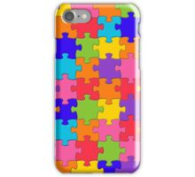 Funny Colorful Jigsaw Solved Puzzle Pieces iPhone Case/Skin