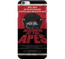 Dawn of the Apes poster parody iPhone Case/Skin