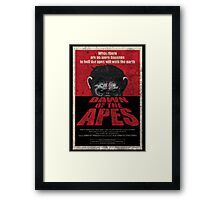 Dawn of the Apes poster parody Framed Print