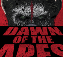 Dawn of the Apes poster parody Sticker