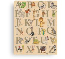 Animal ABCs Canvas Print