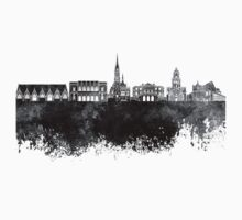 Gothenburg skyline in black watercolor Kids Tee