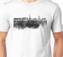 Gothenburg skyline in black watercolor Unisex T-Shirt