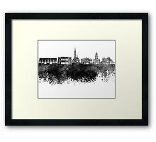 Gothenburg skyline in black watercolor Framed Print