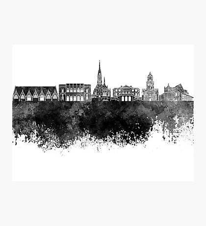 Gothenburg skyline in black watercolor Photographic Print