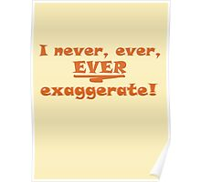 I never, ever, ever exaggerate! Poster