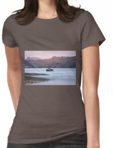 Old fishing boat at a coast ot tropical island Womens Fitted T-Shirt
