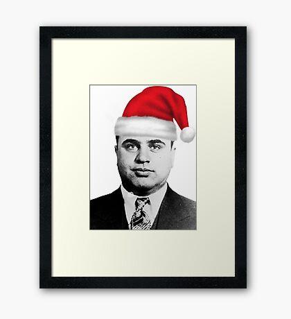 Al Capone - Merry Christmas! Framed Print