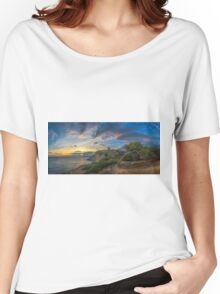 Sunset at Malladeta - panorama Women's Relaxed Fit T-Shirt