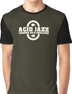 Acid jazz london white color Graphic T-Shirt