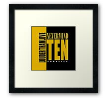 Nevermind Ten Facelift Louder than the Sound Grunge albums Framed Print