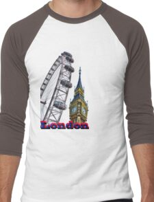 London  Men's Baseball ¾ T-Shirt