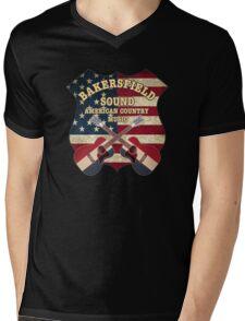 Bakersfield Sound shield Mens V-Neck T-Shirt