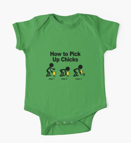 How to pick=-up chicks One Piece - Short Sleeve