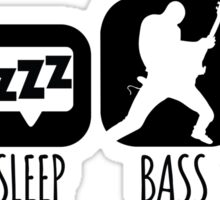 Eat Sleep Bass Bassist Music Mantra Sticker