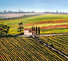 Tuscany - Vineyards by bill holkham