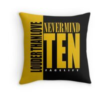 Nevermind Ten Facelift Louder than the Sound Grunge albums Throw Pillow