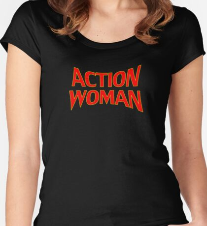 Action Woman - Girls T-Shirt Women's Fitted Scoop T-Shirt