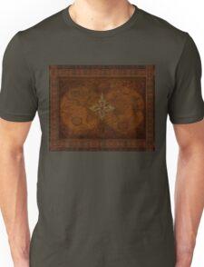 Steampunk Compass Rose & Antique Map Unisex T-Shirt
