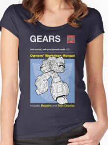 Owners' Manual - Gears (Transformers) - T-shirt Women's Fitted Scoop T-Shirt