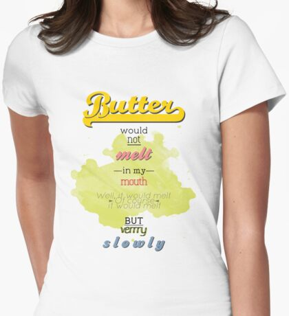 Wolf and Butter Womens Fitted T-Shirt