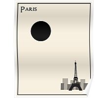 Paris Minimalist Travel Poster - Beige Version Poster