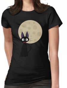 Jiji the Cat Womens Fitted T-Shirt