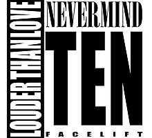 Nevermind Ten Facelift Louder than the Sound Grunge albums White version Photographic Print