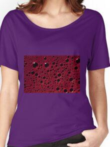 Alien bubbles bordeaux texture Women's Relaxed Fit T-Shirt
