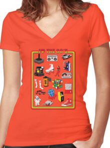 I LOVE THE 80'S Women's Fitted V-Neck T-Shirt