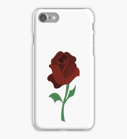 Rose of beauty and the beast iPhone Case/Skin