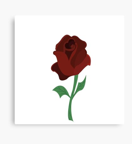 Rose of beauty and the beast Canvas Print