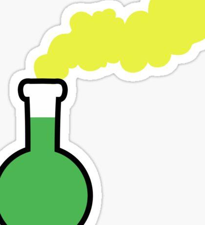 Vivid Neon Laboratory Flask Sticker
