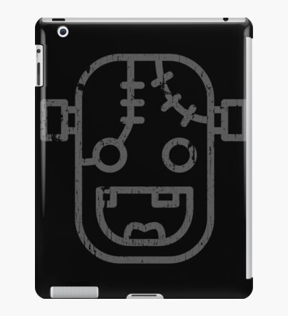 Frankenstein Monster Face Icon Old Print Funny iPad Case/Skin