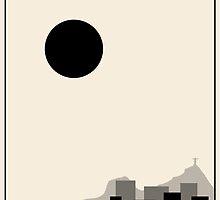 Rio De Janeiro Minimalist Travel Poster - Beige Version by FinlayMcNevin