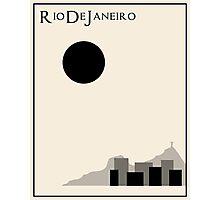 Rio De Janeiro Minimalist Travel Poster - Beige Version Photographic Print