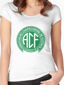 Pray for Chapecoense Football Women's Fitted Scoop T-Shirt