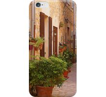 The Brown Shuttered Houses Of Valldemossa iPhone Case/Skin