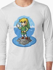 Zelda Wind Waker Bottle of Milk Long Sleeve T-Shirt