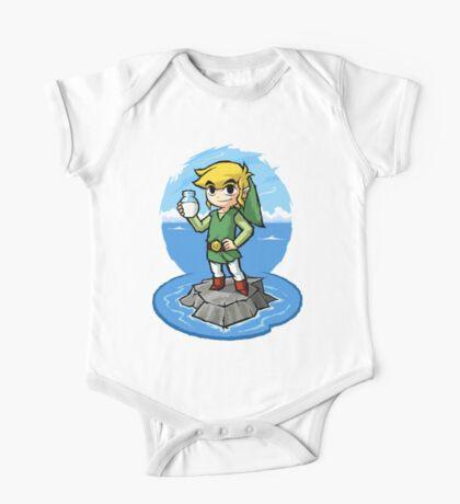 Zelda Wind Waker Bottle of Milk One Piece - Short Sleeve