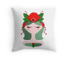 Illustration of a cranberry character Throw Pillow