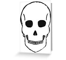 Small Skull Sketch (Black Outline) Greeting Card