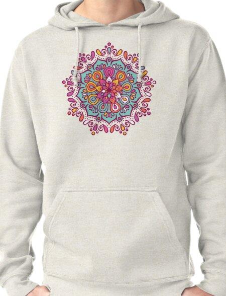 Colourful mandala Pullover Hoodie