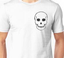 Small Skull Sketch (Black Outline) Unisex T-Shirt