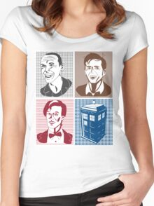 Doctor Who and Tardis Women's Fitted Scoop T-Shirt