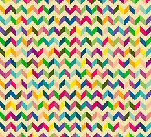 Retro Zig Zag Colorful by Yevhenii Korchak
