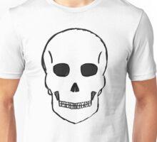 Large Skull Stetch (Black Outline) Unisex T-Shirt