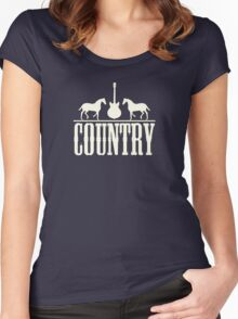 Country music  Women's Fitted Scoop T-Shirt